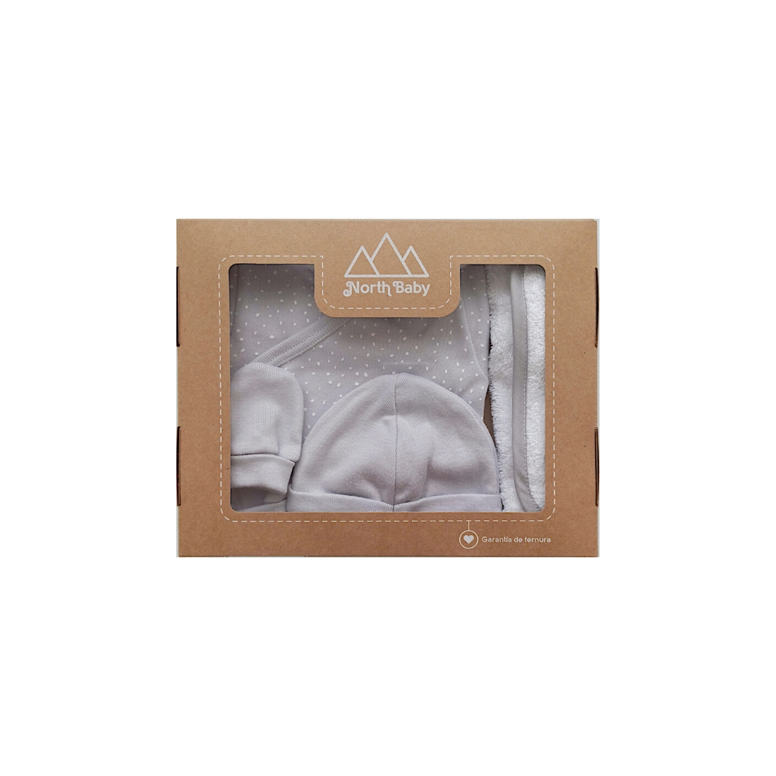 NB301CGRET0 | Caja Body estampado gris